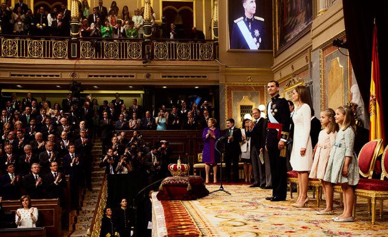 Fotografía de la proclamación del Rey Felipe VI