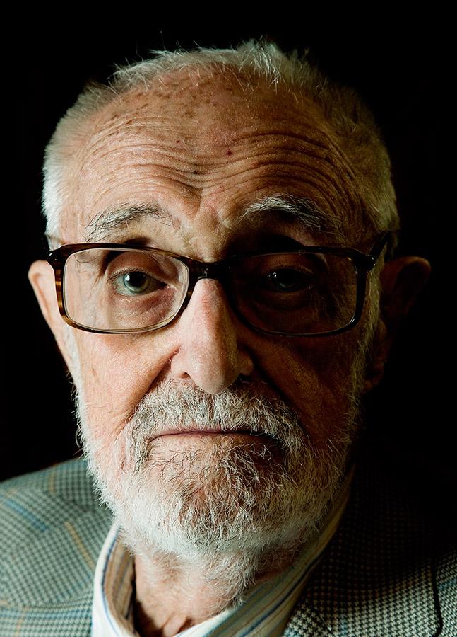 Sesión fotográfica de retrato con el escritor José Luis Sampedro